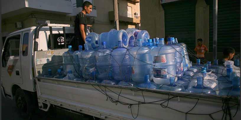Ventes d'eau à Tripoli