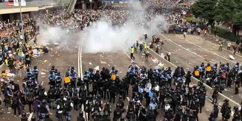 Manifestation à Hong Kong, le 14 juin 2019