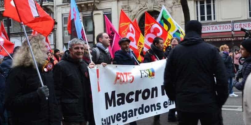 Manifestation contre la réforme des retraites à Paris, le 4 janvier 2019.