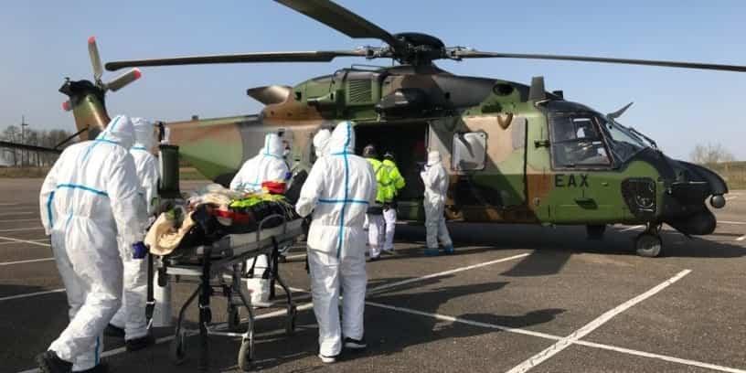 Deux patients atteints du Covid-19 ont été transférés de Metz vers l'Allemagne, le 28 mars 2020