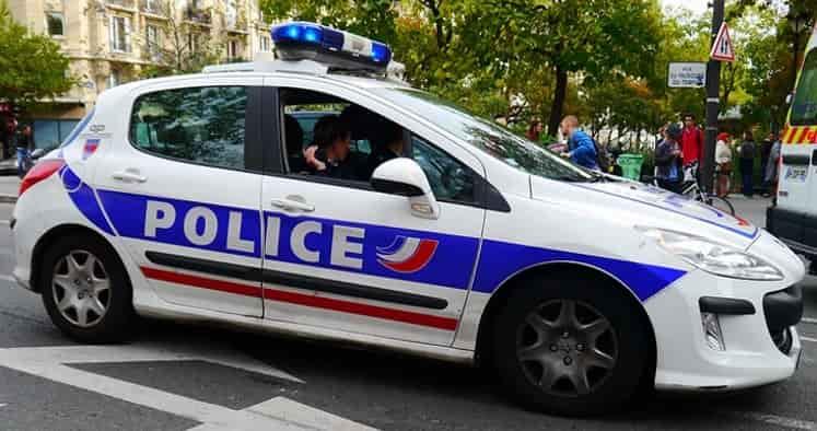 Illustration d'une voiture de police
