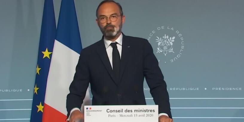 Le Premier ministre Edouard Philippe, le 15 avril 2020 à Paris