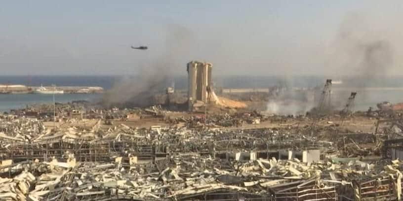 Le port de Beyrouth au lendemain des explosions, le 5 août 2020
